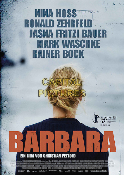 ORIGINAL GERMAN POSTER ART.in Barbara (2012).*Filmstill - Editorial Use Only*.CAP/FB.Supplied by Capital Pictures.