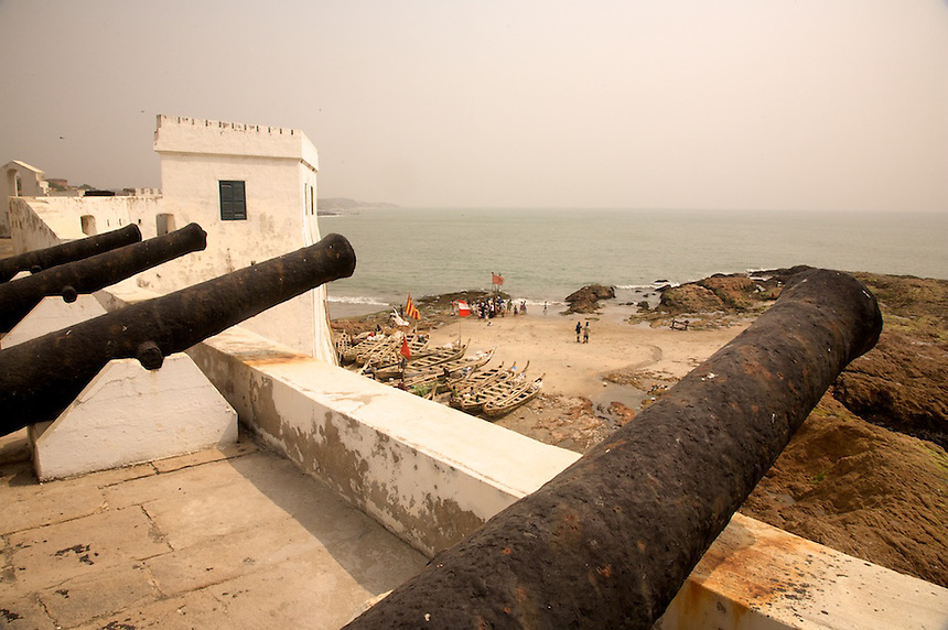 Cape Coast Castle, Ghana, was built to support trade in timber and gold,but later became part of the slave trade. It was rebuilt by the British in the 18th century. and in 1844 became the center of British rule in what was called Gold Coast. President Barak Obama visited here in 2009..Photograph by Peter E. Randall