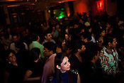 Guest dance to the music at The club LAP in Hotel Samrat in New Delhi, India. Photograph: Sanjit Das/Panos