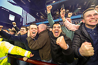 Leeds United fans celebrate after their team scored a late winner<br /> <br /> Photographer Alex Dodd/CameraSport<br /> <br /> The EFL Sky Bet Championship - Aston Villa v Leeds United - Sunday 23rd December 2018 - Villa Park - Birmingham<br /> <br /> World Copyright &copy; 2018 CameraSport. All rights reserved. 43 Linden Ave. Countesthorpe. Leicester. England. LE8 5PG - Tel: +44 (0) 116 277 4147 - admin@camerasport.com - www.camerasport.com