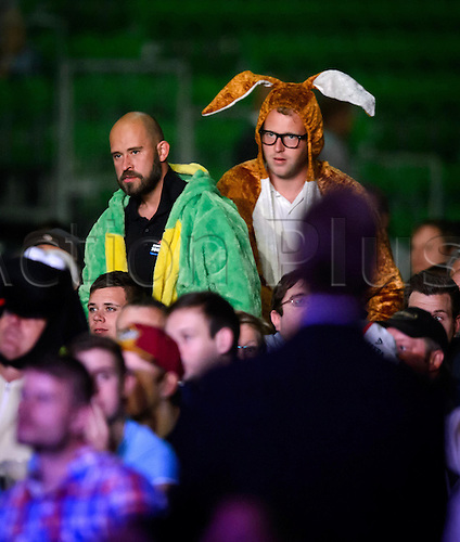 21.06.2015. Riesa, Germany. Spectators in fancy dress during the International Darts Open in Riesa Germany, 21 June 2015