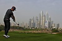 Raphael Jacquelin (FRA) on the 8th tee during Round 1 of the Omega Dubai Desert Classic, Emirates Golf Club, Dubai,  United Arab Emirates. 24/01/2019<br /> Picture: Golffile | Thos Caffrey<br /> <br /> <br /> All photo usage must carry mandatory copyright credit (&copy; Golffile | Thos Caffrey)