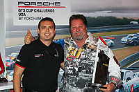 Jeff Stone of Kelly-Moss Road and Race, Team Champion, Platinum Class, Rob Owen, GT3 Banquet