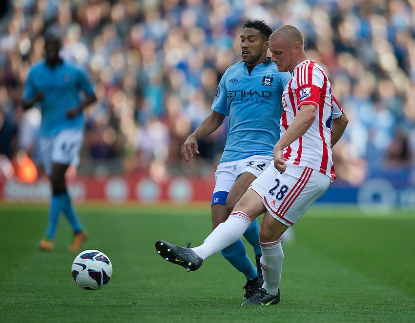 Stoke City's Andy Wilkinson ..Football - Barclays Premiership - Stoke City v Manchester City - Saturday 15th September 2012 - Britannia Stadium - Stoke..