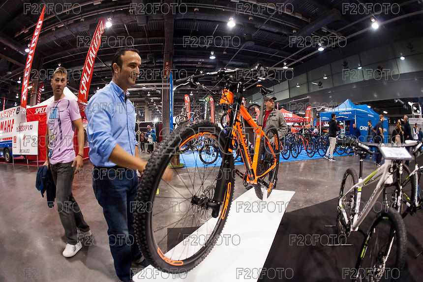 VALENCIA, SPAIN - NOVEMBER 7: Cannodale bike during DOS RODES at Feria Valencia on November 7, 2015 in Valencia, Spain