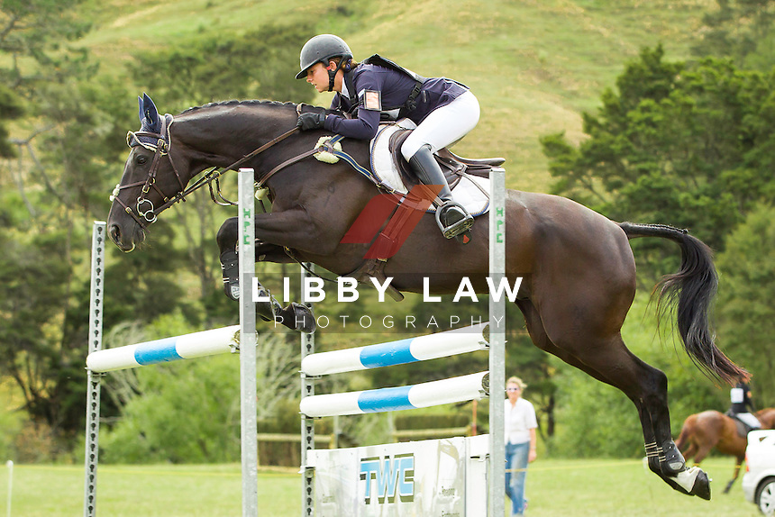 NZL-Samantha Felton (HENTON AFTER DARK)  INTERIM-5TH: TROY WHEELER CONTRACTING CNC2*PLUS: 2014 NZL-Troy Wheeler Contracting Springbush Horse Trial (Saturday 15 February) CREDIT: Libby Law COPYRIGHT: LIBBY LAW PHOTOGRAPHY - NZL
