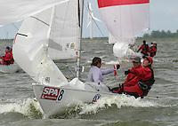 20th SPA Regatta - Medemblik.26-30 May 2004..Copyright free image for editorial use. Please credit Peter Bentley. .Sharon Ferris - NZL.