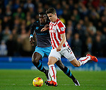 Marco van Ginkel of Stoke City and Luca Joao of Sheffield Wednesday - Capital One Cup Quarter-Final - Stoke City vs Sheffield Wednesday - Britannia Stadium - Stoke - England - 1st December 2015 - Picture Simon Bellis/Sportimage