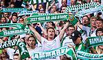 Stockholm 2014-07-20 Fotboll Superettan Hammarby IF - &Ouml;sters IF :  <br /> Hammarby supportrar med halsdukar<br /> (Foto: Kenta J&ouml;nsson) Nyckelord:  Superettan Tele2 Arena Hammarby HIF Bajen &Ouml;ster &Ouml;IF supporter fans publik supporters