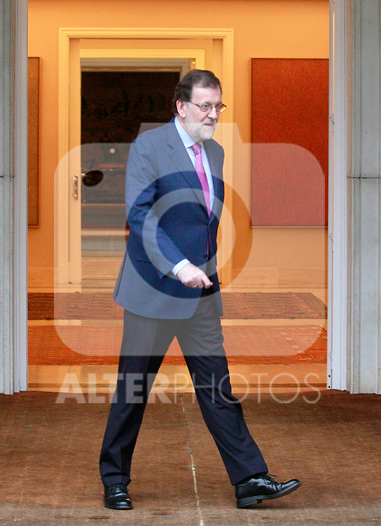 The President of the Government of Spain, Mariano Rajoy, meets with the Secretary General of the PSOE (Spanish Socialist Workers Party) Pedro Sanchez. July 6, 2017. (ALTERPHOTOS/Acero)