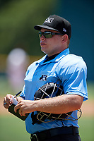 Umpire Denver Dangerfield during a Gulf Coast League game between the GCL Braves and GCL Pirates on July 30, 2019 at Pirate City in Bradenton, Florida.  GCL Braves defeated the GCL Pirates 10-4.  (Mike Janes/Four Seam Images)