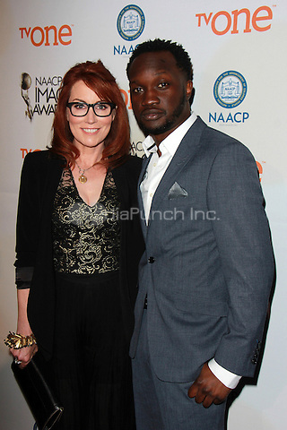 PASADENA, CA - FEBRUARY 5: Margaret Nagle, Arnold Oceng at the 46th NAACP Image Awards Non-Televised Ceremony at the Pasadena Convention Center in Pasadena, California on February 5, 2015. Credit: David Edwards/Dailyceleb/MediaPunch