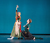 The Royal Danish Ballet soloists &amp; principals <br /> Bournoville Celebration <br /> at The Peacock Theatre, London, Great Britain <br /> press photocall<br /> 9th January 2015 <br /> <br /> La Sylphide <br /> <br /> Sorelly Englund as the witch <br /> Ulrik Birkkjaer as James<br /> <br /> <br /> <br /> <br /> Photograph by Elliott Franks <br /> Image licensed to Elliott Franks Photography Services