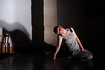 CHIMERE ENTRE DEUX OEUVRES..chorégraphe danseuse performer Muriel Piqué performer constructeur sonore Mathias Beyler..garde fou Stefan Delon..Compagnie : ..Lieu: Chapelle de la médiatheque..Ville : Uzes..Festival Uzes Danse 2011..le 19/06/2011..© Laurent Paillier / photosdedanse.com..All rights reserved
