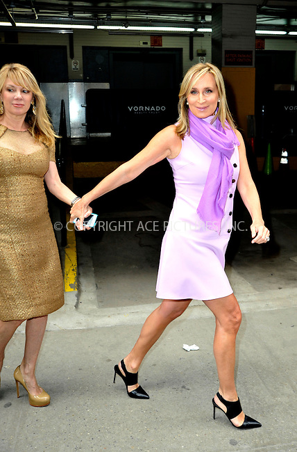 WWW.ACEPIXS.COM<br /> <br /> April 7 2015, New York City<br /> <br /> Reality TV stars Sonja Morgan (R) and Ramona Singer made an appearance at HuffPost Live on April 7 2015 in New York City<br /> <br /> By Line: Curtis Means/ACE Pictures<br /> <br /> <br /> ACE Pictures, Inc.<br /> tel: 646 769 0430<br /> Email: info@acepixs.com<br /> www.acepixs.com