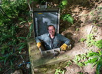 BNPS.co.uk (01202 558833)<br /> Pic: PhilYeomans/BNPS<br />  <br /> Water Find...<br /> <br /> Enviromentalist Richard Stevens is hoping to make a fortune after tapping into a natural spring he has rediscovered on his land.<br /> <br /> Although it sounds more like the hilarious story of the Peckham Spring 'found' by Del Boy in Only Fools & Horses, Richard's inspiration for turning his bottled mineral water into a business has been David Attenborough's Blue Planet.<br /> <br /> The 63-year-old wants to stop people disposing of tens of thousands of plastic bottles of mineral water a year by supplying them with large dispensers they put in their own homes.<br /> <br /> The aim is for customers to use the 11.5 litre tanks to refill and reuse their own bottles with the Yawl Spring mineral water.