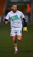 Blackpool's Jay Spearing models the 'Level Playing Field' t-shirt<br /> <br /> Photographer Dave Howarth/CameraSport<br /> <br /> The EFL Sky Bet League One - Blackpool v Doncaster Rovers - Tuesday 12th March 2019 - Bloomfield Road - Blackpool<br /> <br /> World Copyright © 2019 CameraSport. All rights reserved. 43 Linden Ave. Countesthorpe. Leicester. England. LE8 5PG - Tel: +44 (0) 116 277 4147 - admin@camerasport.com - www.camerasport.com