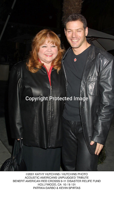 ©2001 KATHY HUTCHINS / HUTCHINS PHOTO.ACOUSTIC AMERICANS UNPLUGGED TRIBUTE.BENEFIT AMERICAN RED CROSSS 9-11 DISASTER RELIFE FUND.HOLLYWOOD, CA  10 / 9 / 01.PATRIKA DARBO & KEVIN SPIRTAS