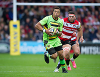 Northampton Saints' Luther Burrell in action during todays game<br /> <br /> Photographer Ashley Western/CameraSport<br /> <br /> Aviva Premiership - Gloucester v Northampton Saints - Saturday 7th October 2017 - Kingsholm Stadium - Gloucester<br /> <br /> World Copyright &copy; 2017 CameraSport. All rights reserved. 43 Linden Ave. Countesthorpe. Leicester. England. LE8 5PG - Tel: +44 (0) 116 277 4147 - admin@camerasport.com - www.camerasport.com