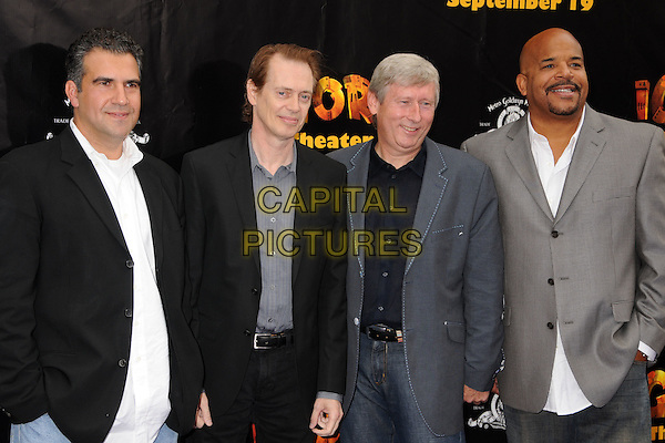 "JOHN ERAKLIS, STEVE BUSCEMI, MAX HOWARD & JEROME WILLIAMS .""Igor"" Los Angeles Premiere at Grauman's Chinese Theatre, Hollywood, California, USA..September 13th, 2008.half length black grey gray suit jacket  .CAP/ADM/BP.©Byron Purvis/AdMedia/Capital Pictures."