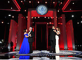 President Donald Trump and First Lady Melania Trump dance along Vice President Mike Pence and his wife Karen Pence at the Liberty Ball at the Washington Convention Center on January 20, 2017 in Washington, D.C. Trump will attend a series of balls to cap his Inauguration day.     <br /> Credit: Kevin Dietsch / Pool via CNP