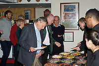 Pre-match hospitality ahead of the Greene King IPA Championship match between London Scottish Football Club and Ealing Trailfinders at Richmond Athletic Ground, Richmond, United Kingdom on 26 December 2015. Photo by Alan  Stanford / PRiME Media Images