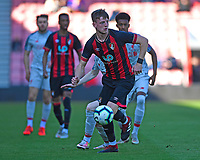 Tom Hanfrey of AFC Bournemouth looks to play the ball out of defence during AFC Bournemouth Under-21 vs Liverpool Under-21, Premier League Cup Football at the Vitality Stadium on 24th February 2019