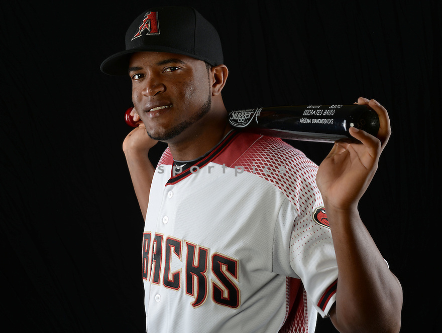 Arizona Diamondbacks Brito Socrates (30) during photo day on February 28, 2016 in Scottsdale, AZ.