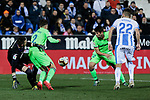 CD Leganes's Ivan Cuellar and Levante UD's Borja Mayoral during La Liga match between CD Leganes and Levante UD at Butarque Stadium in Leganes, Spain. March 04, 2019. (ALTERPHOTOS/A. Perez Meca)