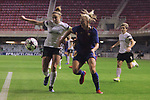 UEFA Women's Champions League 2017/2018.<br /> Round of 16.<br /> FC Barcelona vs Gintra Universitetas: 3-0.<br /> Vestina Neverdauskaite vs Toni Duggan.