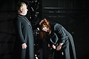 English National Opera presents THE FORCE OF DESTINY, by Verdi, directed by Calixto Bieito, at the London Coliseum. Co-production with Metropolitan Opera, New York and the Canadian Opera Company, Toronto. Picture shows: James Creswell (Father Superior), Tamara Wilson (Leonora).