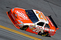 14 February, 2010, Daytona Beach, Florida USA USA.Joey Logano (#20).©F. Peirce Williams 2010 USA.