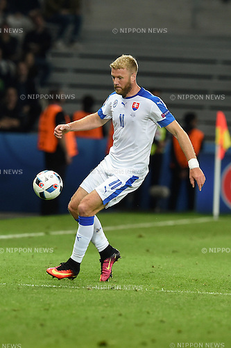 Adam Nemec (Slovakia) ; <br /> June 15, 2016 - Football : Uefa Euro France 2016, Group B, Russia 1-2 Slovakia at Stade Pierre Mauroy, Lille Metropole, France.; ;(Photo by aicfoto/AFLO)