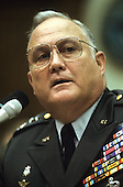 General H. Norman Schwarzkopf testifies before the United States House Armed Services Committee on Operation Desert Shield / Desert Storm in Washington, D.C. on June 12, 1991.  Schwarzkopf passed away in Tampa, Florida on Thursday, December 27, 2012..Credit: Ron Sachs / CNP