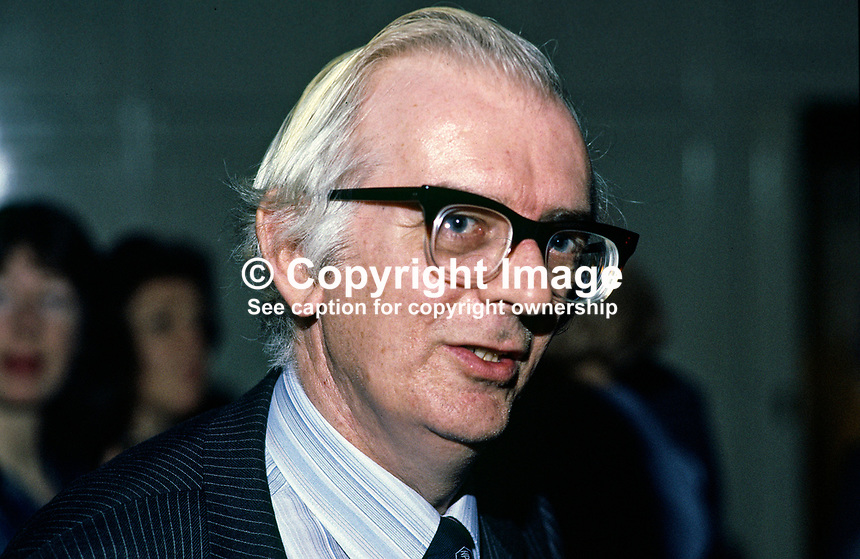 Roy Lilley, Editor, Belfast Telegraph, N Ireland. Ref: 198501009.<br />