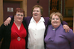 Joan Matthews, Brigid Black and Joans sister, Annie Harruk (who came home from England for the party) at Joan's 60th in The Thatch...Photo NEWSFILE/Jenny Matthews.(Photo credit should read Jenny Matthews/NEWSFILE)....This Picture has been sent you under the condtions enclosed by:.Newsfile Ltd..The Studio,.Millmount Abbey,.Drogheda,.Co Meath..Ireland..Tel: +353(0)41-9871240.Fax: +353(0)41-9871260.GSM: +353(0)86-2500958.email: pictures@newsfile.ie.www.newsfile.ie.FTP: 193.120.102.198.