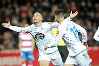 Real Club Deportivo de la Coruna s Quique Gonzalez celebrates goal during La Liga 2 match. February 10,2019. (ALTERPHOTOS/Alconada)<br /> Liga Campionato Spagna 2018/2019<br /> Foto Alterphotos / Insidefoto <br /> ITALY ONLY
