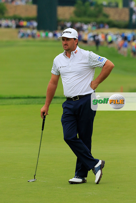 Graeme McDowell (NIR) on the 2nd green during Friday's Round 1 of the 2016 U.S. Open Championship held at Oakmont Country Club, Oakmont, Pittsburgh, Pennsylvania, United States of America. 17th June 2016.<br /> Picture: Eoin Clarke | Golffile<br /> <br /> <br /> All photos usage must carry mandatory copyright credit (&copy; Golffile | Eoin Clarke)