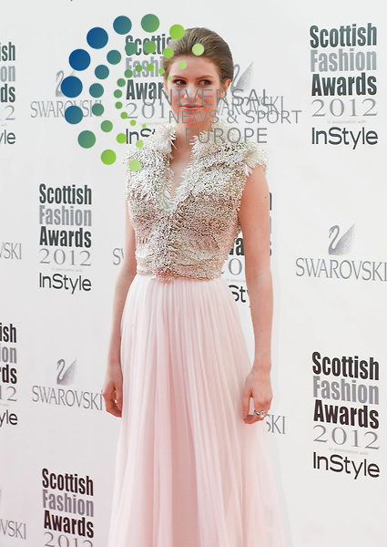 Tali Lennox, model and daughter of singer Annie, on the red carpet at the Scottish Fashion Awards at the Clyde Auditorium.. Picture: Wullie Marr/ Universal News And Sport (Scotland) 11th June 2012