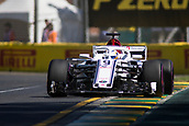 23rd March 2018, Melbourne Grand Prix Circuit, Melbourne, Australia; Melbourne Formula One Grand Prix, Friday free practice; The number 9 Alfa Romeo Sauber driven by Marcus Ericsson