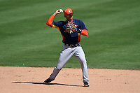 Houston Astros shortstop Carlos Correa (76) during a Spring Training game against the Toronto Blue Jays on March 9, 2015 at Florida Auto Exchange Stadium in Dunedin, Florida.  Houston defeated Toronto 1-0.  (Mike Janes/Four Seam Images)