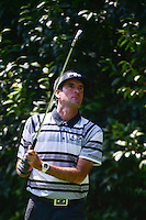 Bubba Watson (USA) watches his tee shot on 2 during round 1 of the World Golf Championships, Mexico, Club De Golf Chapultepec, Mexico City, Mexico. 3/2/2017.<br /> Picture: Golffile | Ken Murray<br /> <br /> <br /> All photo usage must carry mandatory copyright credit (&copy; Golffile | Ken Murray)