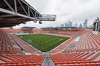Houston, TX - Friday April 29, 2016: BBVA Compass Stadium prior to the Houston Dash versus Sky Blue FC game at BBVA Compass Stadium. The Houston Dash tied Sky Blue FC 0-0.