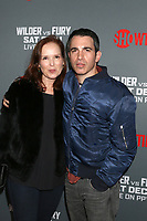 "LOS ANGELES - DEC 1:  Jennifer Todd, Chris Messina at the Heavyweight Championship Of The World ""Wilder vs. Fury"" - Arrivals at the Staples Center on December 1, 2018 in Los Angeles, CA"