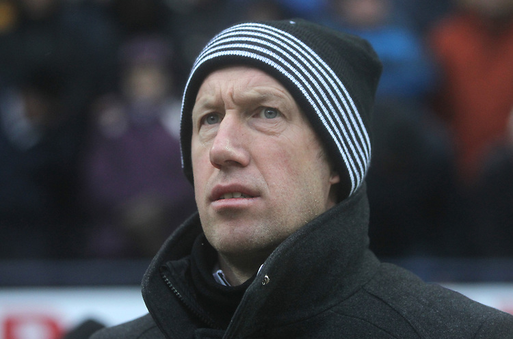 Swansea City's Manager Graham Potter  <br /> <br /> Photographer Mick Walker/CameraSport<br /> <br /> The EFL Sky Bet Championship - Preston North End v Swansea City - Saturday 12th January 2019 - Deepdale Stadium - Preston<br /> <br /> World Copyright &copy; 2019 CameraSport. All rights reserved. 43 Linden Ave. Countesthorpe. Leicester. England. LE8 5PG - Tel: +44 (0) 116 277 4147 - admin@camerasport.com - www.camerasport.com