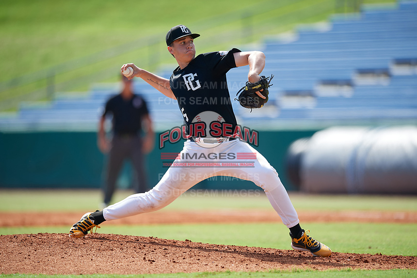 Carson McKinney (25) of Orange Lutheran High School in Columbiana, AL during the Perfect Game National Showcase at Hoover Metropolitan Stadium on June 18, 2020 in Hoover, Alabama. (Mike Janes/Four Seam Images)