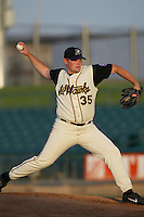 Justin Wechsler of the Lancaster JetHawks pitches during a game at The Hanger on May 20, 2003 in Lancaster, California. (Larry Goren/Four Seam Images)