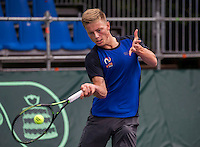 Moscow, Russia, 13 th July, 2016, Tennis,  Davis Cup Russia-Netherlands, Training Dutch team, Tim van Rijthoven (NED)<br /> Photo: Henk Koster/tennisimages.com