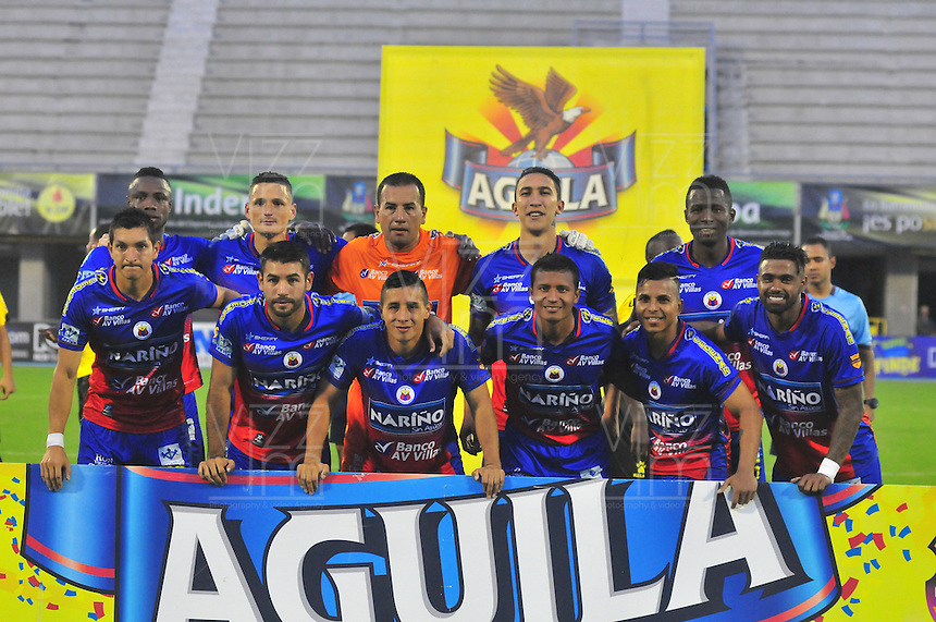 BARRANCABERMEJA -COLOMBIA-27-ABRIL-2016. Formación de Pasto l contra Alianza Petrolera durante partido por la fecha 15 de Liga Águila I 2016 jugado en el estadio Daniel Villa Zapata ./Team  of Pasto against of  Alianza Petrolera  during the match for the date 15 of the Aguila League I 2016 played at Daniel Villa Zapata   stadium in Barrancabermeja  . Photo: VizzorImage / José David  Martínez  / Contribuidor