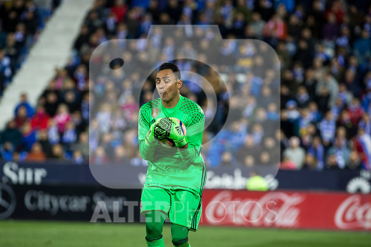 Keylor Navas of Real Madrid during the match of  La Liga between Club Deportivo Leganes and Real Madrid at Butarque Stadium  in Leganes, Spain. April 05, 2017. (ALTERPHOTOS / Rodrigo Jimenez)